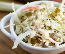 Salade de chou aux cornichons