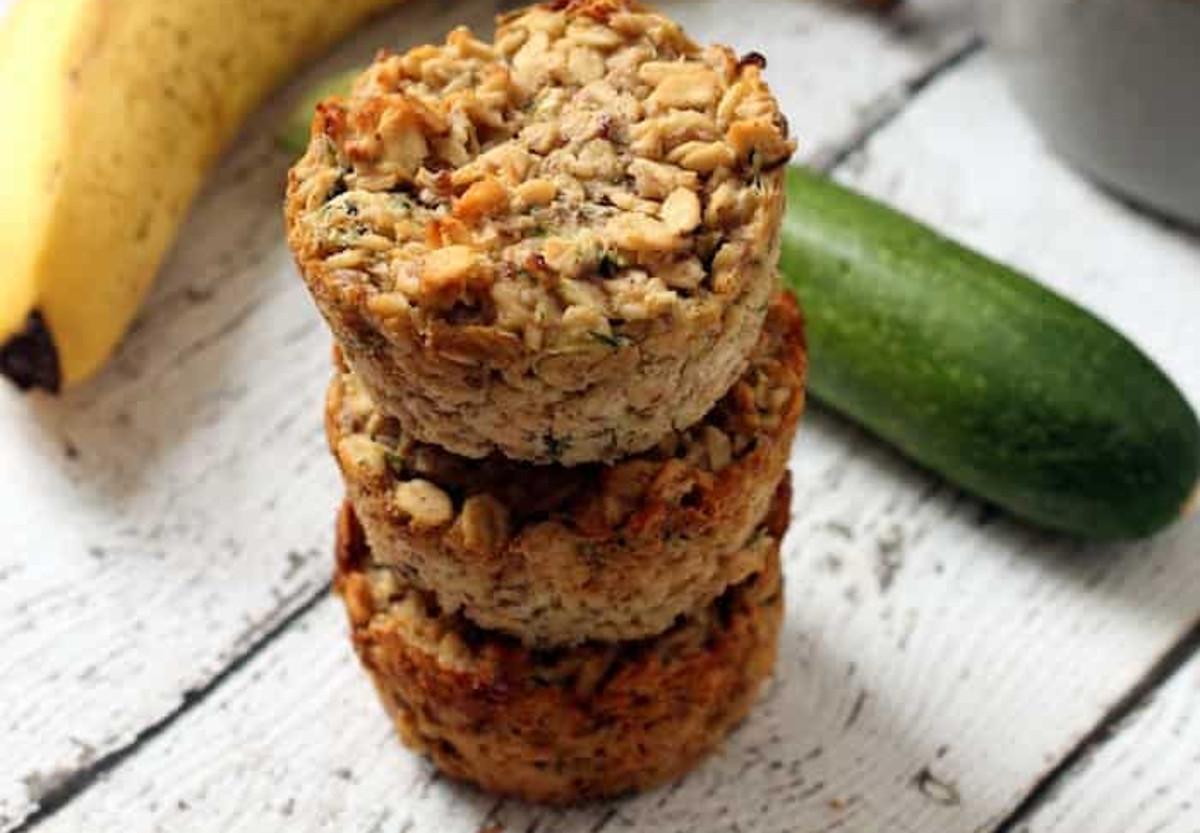 La meilleure recette de muffins à l'avoine, bananes et courgettes!