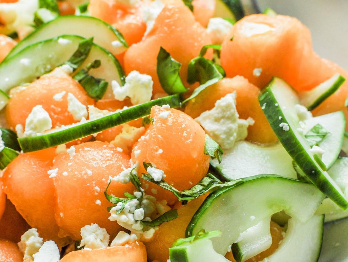 La meilleure recette de salade de concombre et cantaloup (Très facile à faire!)