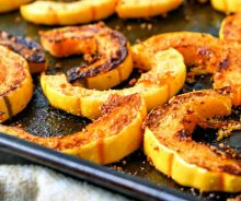 Frites de courge délicata