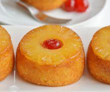 Petits gâteaux renversés aux ananas