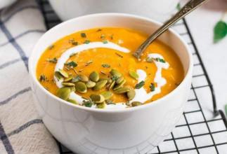 La meilleure recette de soupe de courge butternut à la mijoteuse!