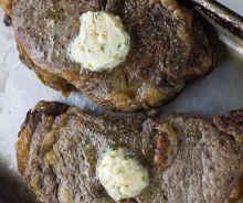 Steak au beurre à l'ail parfait (friteuse à air chaud)