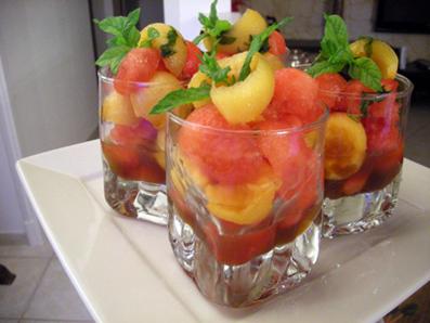Recette de melon à l'orientale